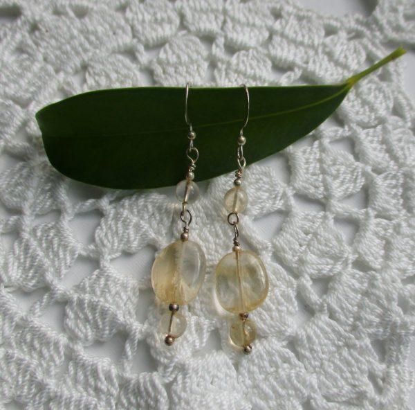 citrine, citrine earrings, dangle earrings