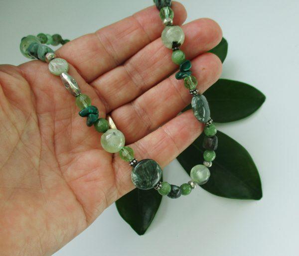 seraphinite jewelry, gemstone necklace